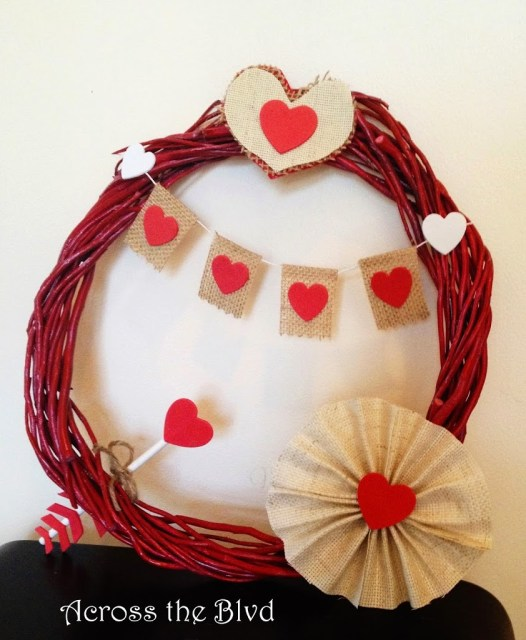 Grapevine Valentine's Day Wreath