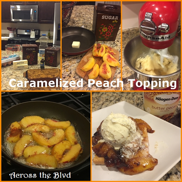 Caramelized Peach Topping On Pound Cake