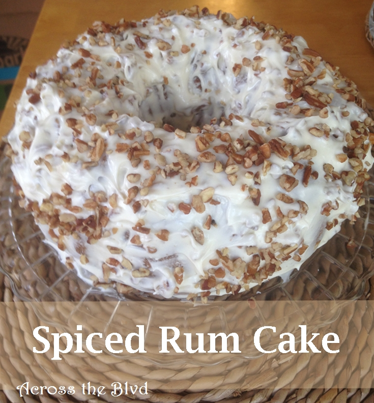Spiced Rum Cake With Cream Cheese Frosting