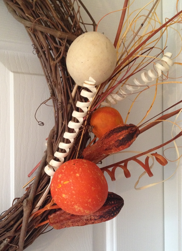 stem and picks for fall wreath