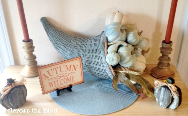 Coastal Cornucopia and Chalk Painted Pumpkins