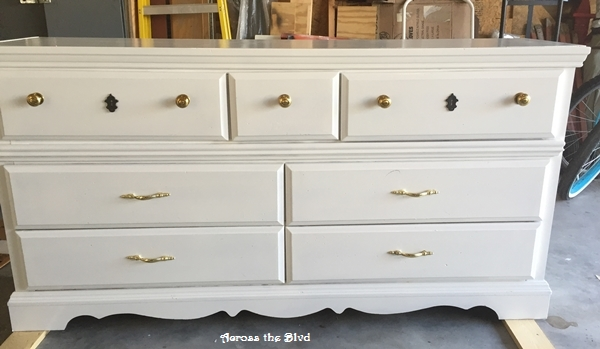 White Dresser Before Makeover