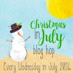 Christmas in July Blog Hop Button