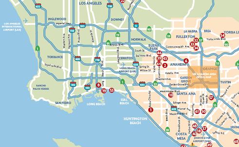 map to anaheim