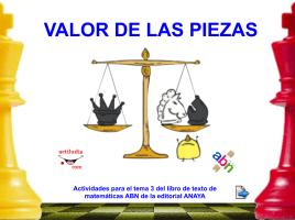 VALOR DE LAS PIEZAS