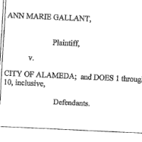 On February 14th, an Alameda County Superior Court judge signed a judgment dismissing former Interim City Manager Ann Marie Gallant's lawsuit against the City of Alameda.