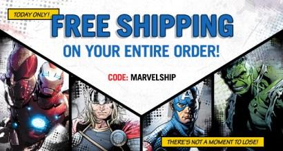Marvel Store free shipping code - MARVELSHIP