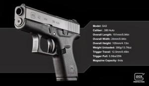 Official Glock G42 Specs