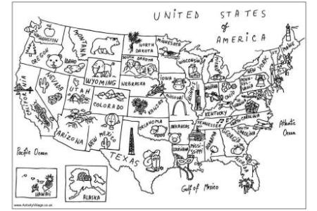pics photos games coloring pages usa states state of