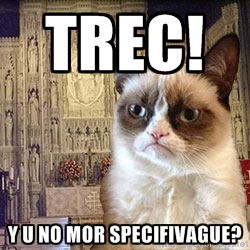 Grumpy Episcopal Cat on TREC
