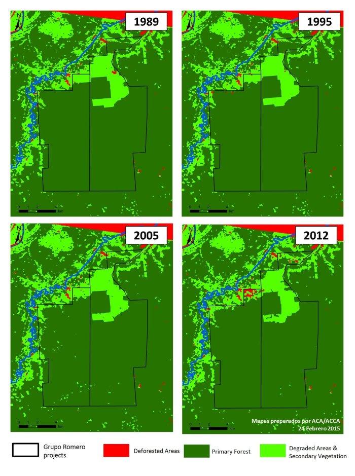 Mapa de la deforestación desde el 2009