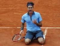 Roger Federer après son unique titre acquis à Roland Garros en 2009
