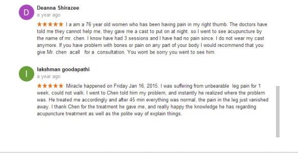 Chen's Acupuncture Clinic Brampton Reviews