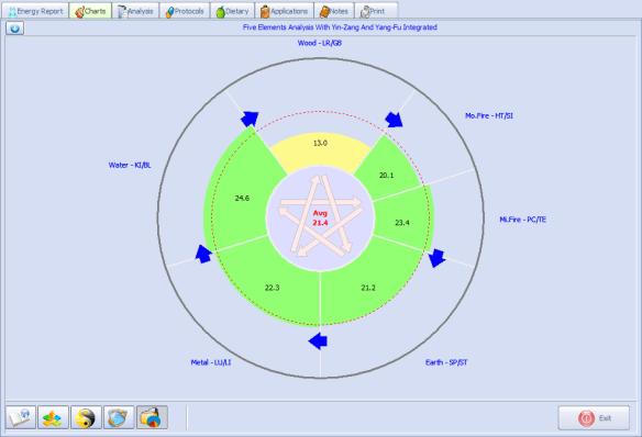 meridian testing result in pie
