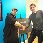 Me meeting the president of Microsoft Canada, Max Long.