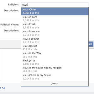 What's Your Facebook Profile Religious View? Why?