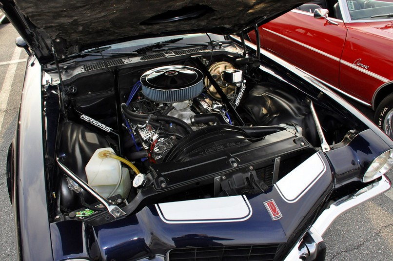 camaro z28 engine bay