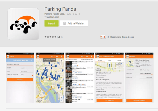 parking panda android app