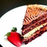 Chocolate Layer Cake with Chocolate Italian Meringue Buttercream & Chocolate Ganache