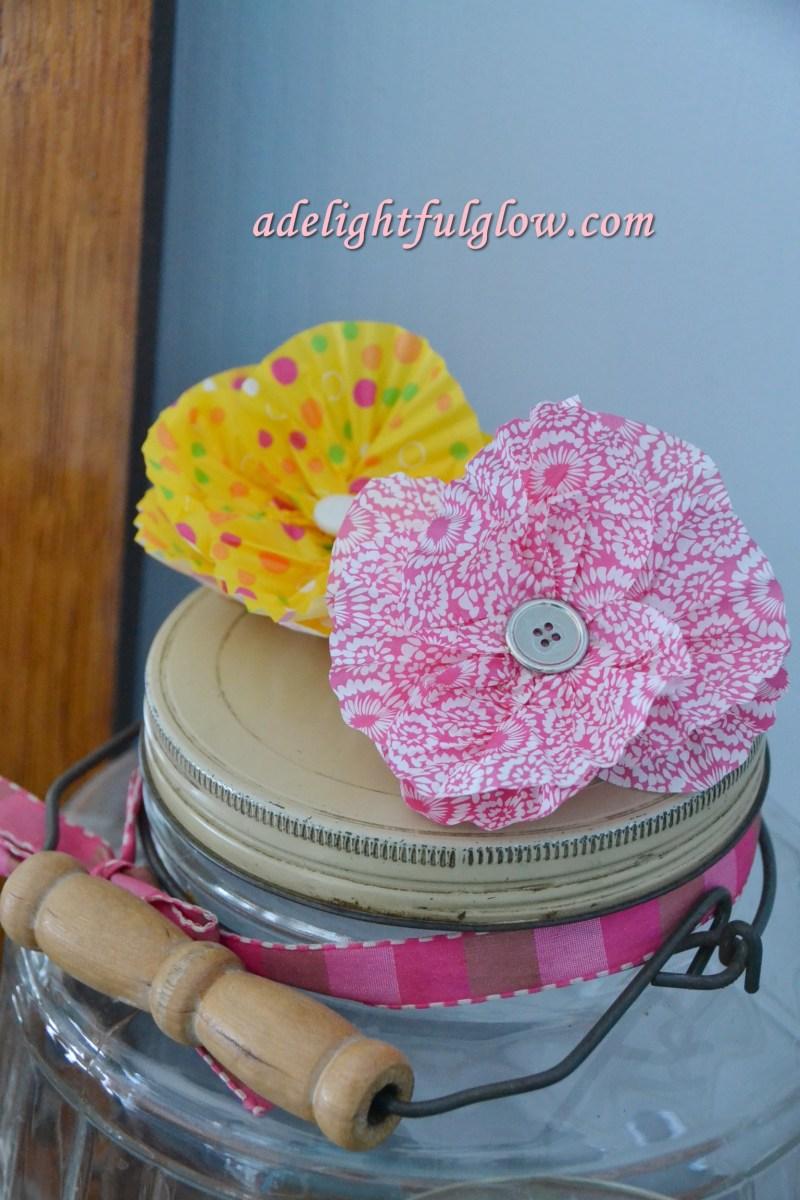 More Cupcake Liner Flower Fun