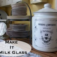 Make it Milk Glass