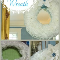 Coffee Filter Christmas Wreath