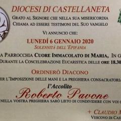 Ordinazione al Diaconato dell'Accolito Roberto Pavone