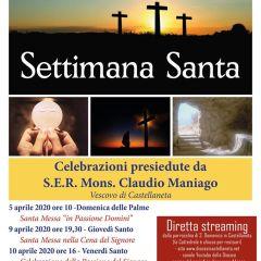 Gli orari delle celebrazioni presiedute dal Vescovo nella Settimana Santa