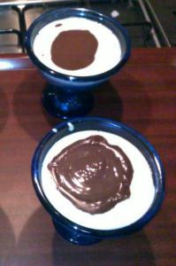 kakaolu puding eklendikten sonraki görüntüsü