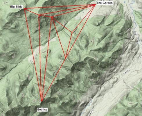 Gothics Big Slide Map Surveyed