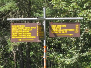 Moose River PLains Road Signs (Dave Gibson Photo)