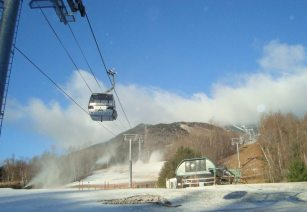 Early season snowmaking at Whiteface