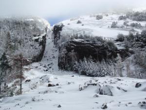 trap dike in winter