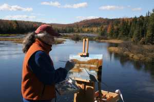 plein air paint out and auction old forge
