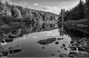 Photo by Carolynn McCann of Old Forge entitled Stillness #2, Raquette Lake