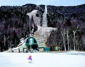 Whiteface Mountain with little snow 2016 Mike Lynch Photo