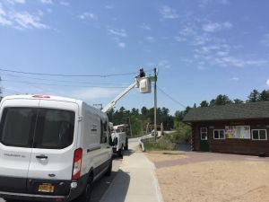 wifi node gets installed in long lake