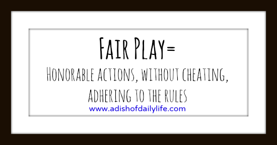 A Sense of Fair Play | A Dish of Daily Life #youthsports
