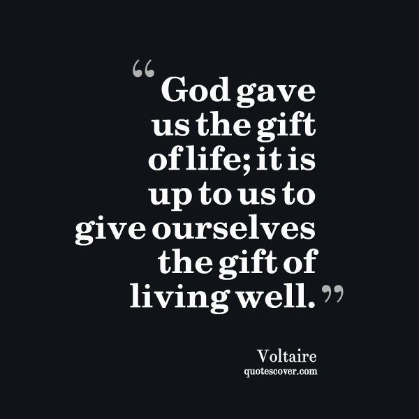 Gift of Life quote