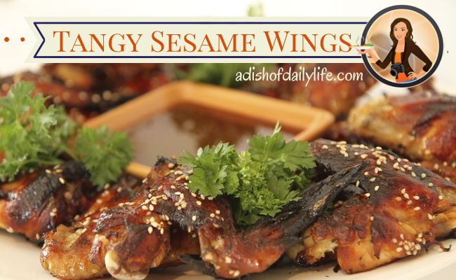 Tangy Sesame Chicken Wings