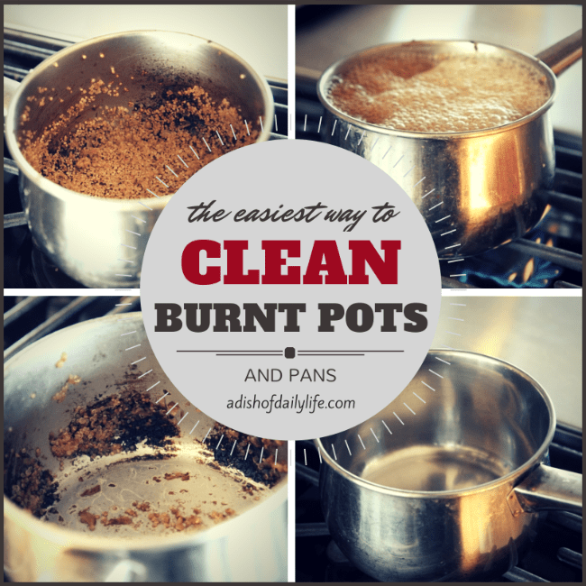 Clean Burnt Pots and Pans