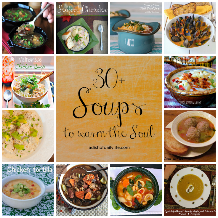 30+ Hearty Soups, perfect for the chilly weather in fall and winter!
