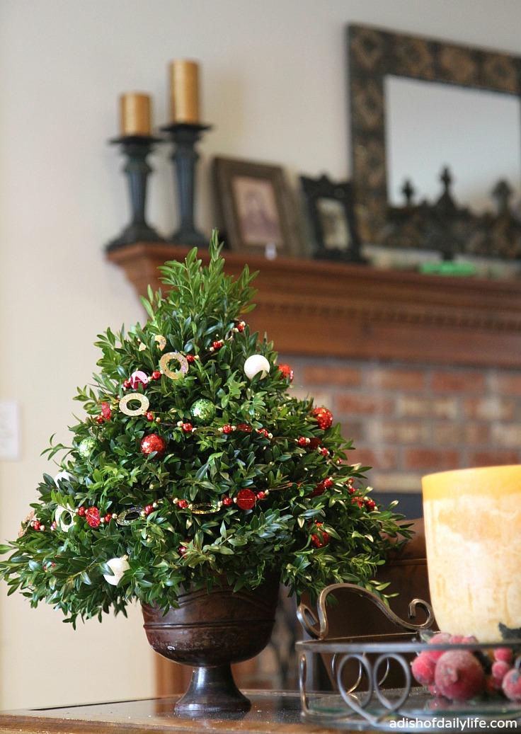 Christmas Tree Topiary