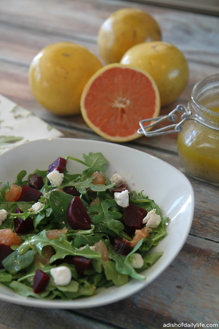 Pair sweet and juicy Florida grapefruit and beets with arugula, goat cheese and a tart, sweet grapefruit vinaigrette for a winter salad guaranteed to tickle your tastebuds!