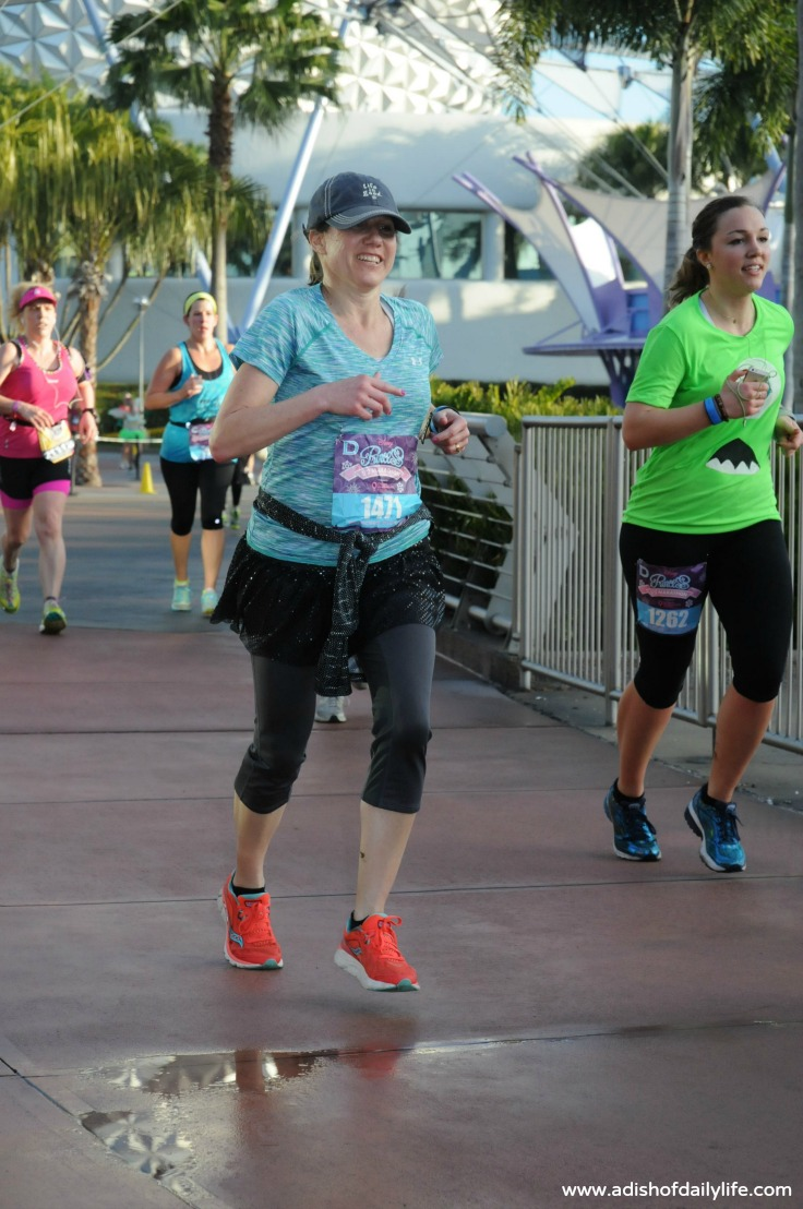 Disney Princess Half Marathon, happy to be finishing