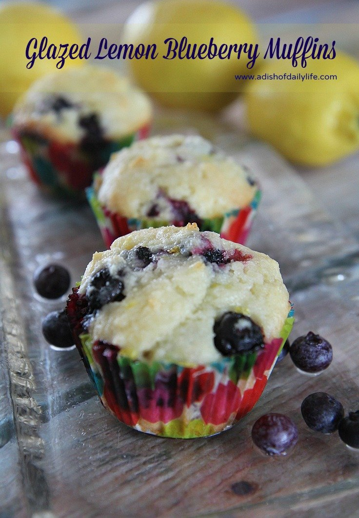 These delicious glazed lemon blueberry muffins with gourmet butter are melt in your mouth good!