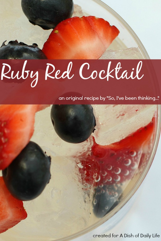 Packed with fruit, the Ruby Red cocktail is the perfect summer drink recipe...light, refreshing and easy to make!