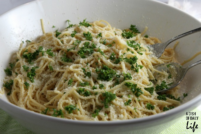 Roasted Garlic Spaghetti