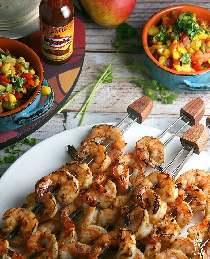 Mango Chipotle Shrimp and Salsa
