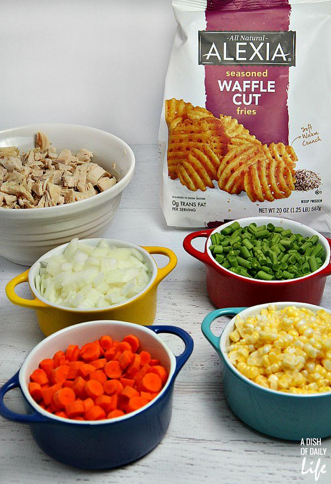 Ingredients for pot pie